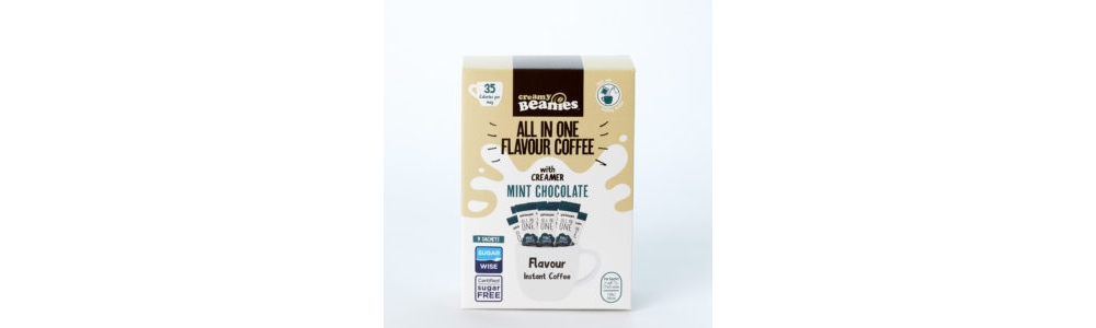beanies all in one mint chocolate coffee 35 calories per cup