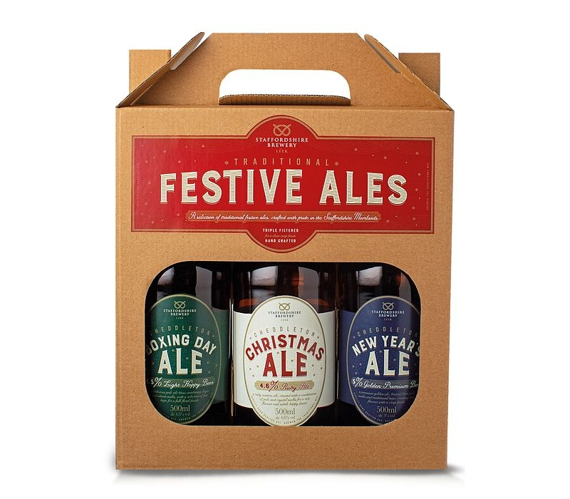 short date 7/21 cottage delight festive ales x 3 gift pack