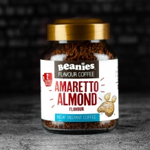 beanies amaretto almond decaf coffee 2 calori