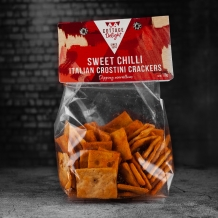 cottage delight sweet chilli italian crostini crackers