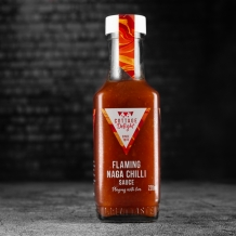flaming naga chilli sauce - cottage delight