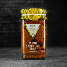 indian spiced lime pickle 270g - cottage delight