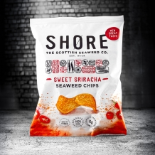 shore sweet sriracha seaweed chips 25g