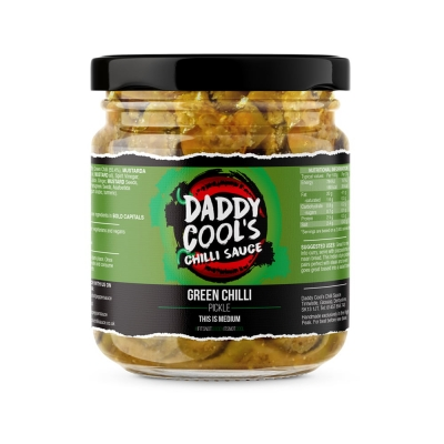 daddy cool green chilli pickle – indian style