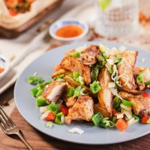 salt & pepper chicken & chips - spicentice meal kit