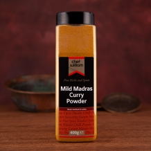 mild madras curry powder 400g shaker jar - ch