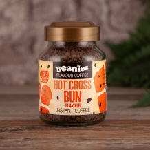 beanies hot cross bun coffee 2 calories per cup