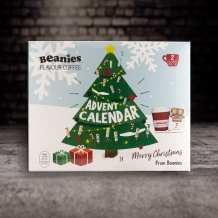 beanies coffee advent calender 2 calories per cup with ceramic mug